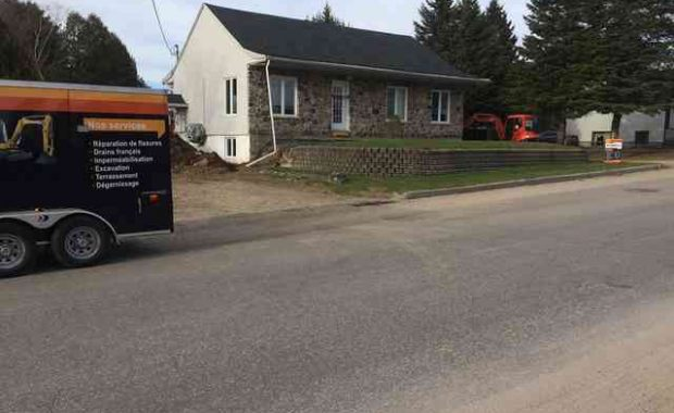 Foundation work in Saint-André-Avellin, QC.