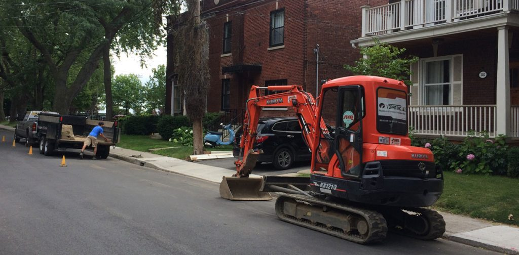Excavation à Montreal
