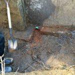 ochre-ferrous drainage-drainage system